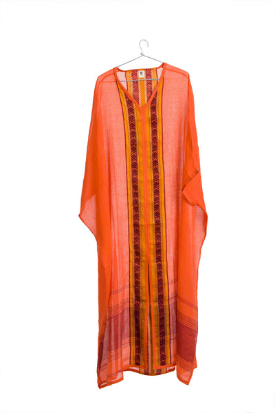 Kamli Kaftan Flaming Orange