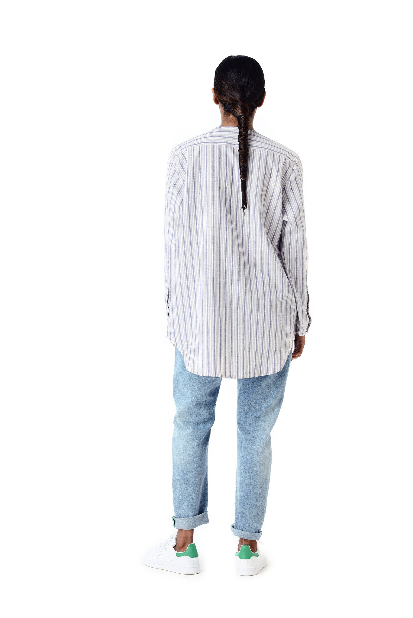 Kurta Top Blue Stripe