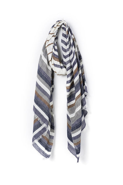 Monika Brown+Navy Stripe