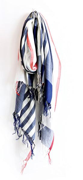 Modernist Silk Navy