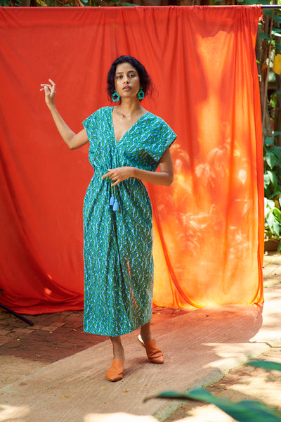 Ava Dress Green Leaf