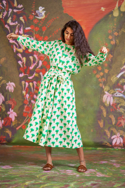 Loulou Skirt Green Marigold