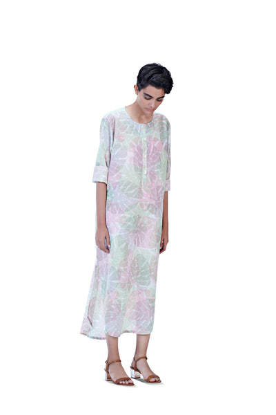 Noel Long Kurta (Blush+Pistachio)