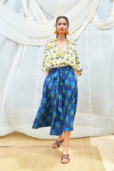 Loulou Skirt Blue Marigold
