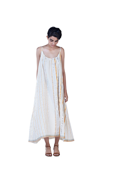 Sultan Slip Dress (Silver+Gold)