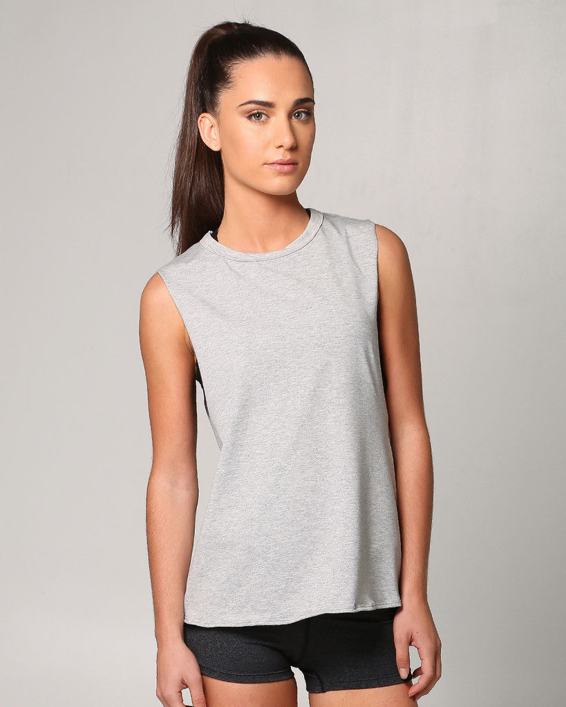 Womens Muscle Tee, view: front