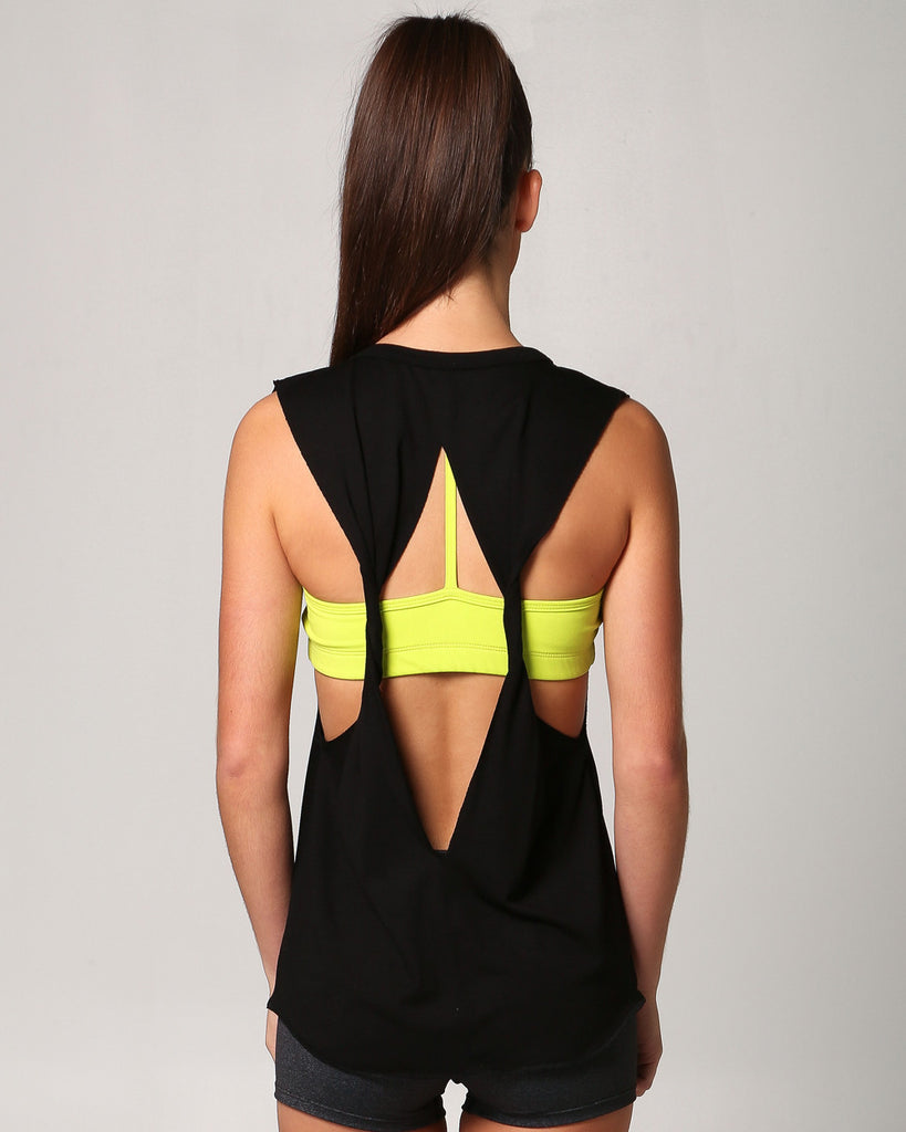 Womens Muscle Twist Tee, view: back