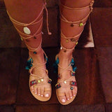 Blue Lagoon Lace-Up Sandals