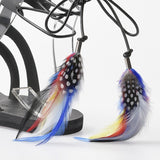 Hera Feathered Leather Sandals