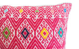 Woven Mexican Pillow - Pink