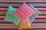 Woven Mexican Pillow - Orange