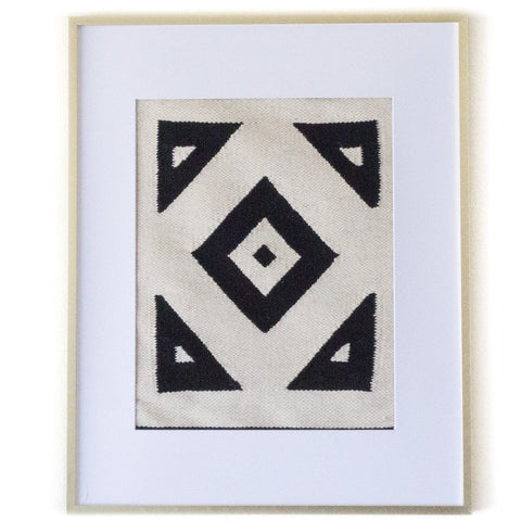 Black & White Geo Peruvian Wall Hanging