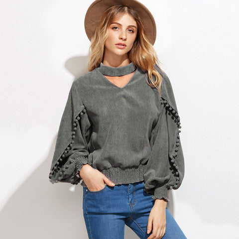 August V-Neck Blouse