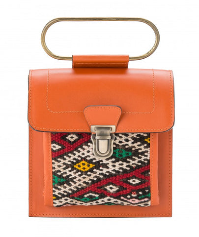 Aziza Belt & Clutch - Orange