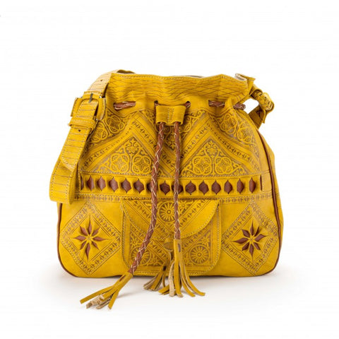 Wanderlust Morrocan Bag - Yellow