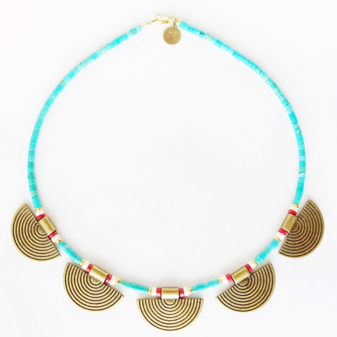 Turquoise Tribal Antique Choker