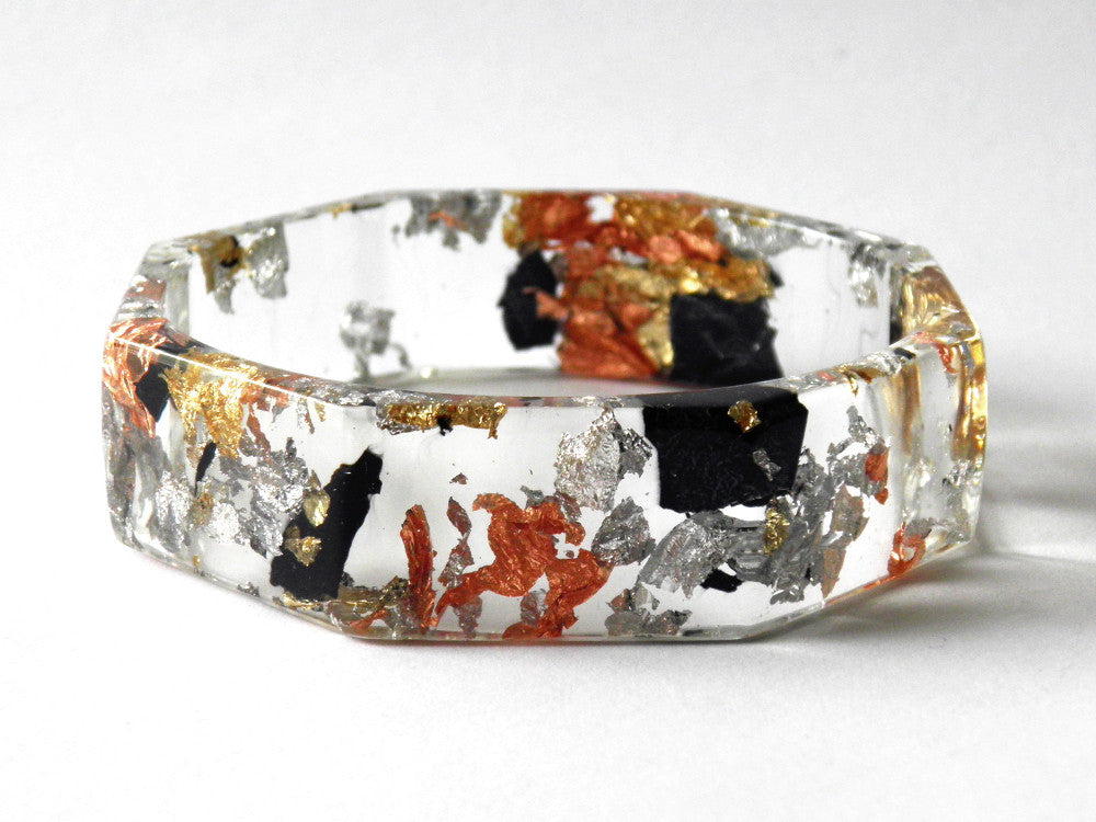PREORDER // Tortoiseshell Resin Octagon Bangle