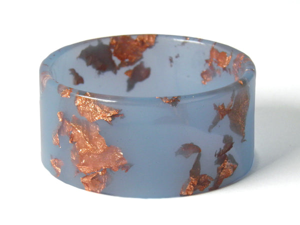 SALE Pastel Blue + Copper Cuff Bangle
