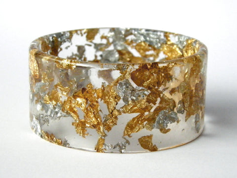 Fancy Clear Cuff Bangle