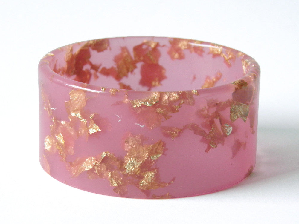 SALE Pastel Pink + Gold Cuff Bangle