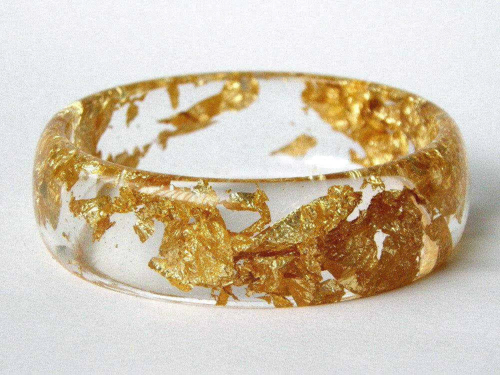Gold Clear Midi Bangle