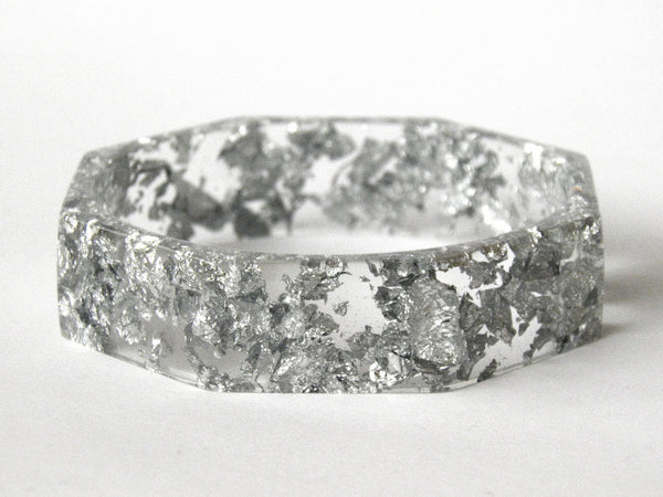 Silver Octagon Bangle