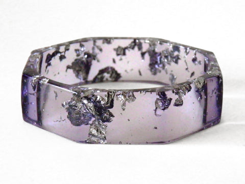 zz Discontinued Sale: Purple + Silver Octagon Bangle
