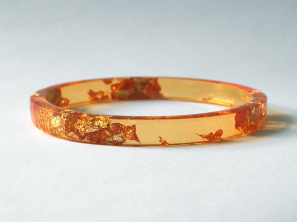 SAMPLE SALE: Bright Orange Stacker Bangle / REGULAR SIZE