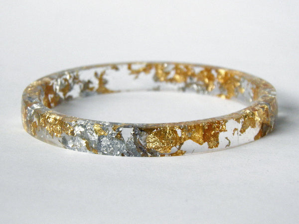 SALE Fancy Clear Stacker Bangle / REGULAR SIZE