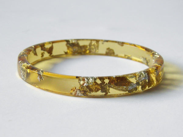 SAMPLE SALE Honey + Silver Stacker Bangle / REGULAR SIZE