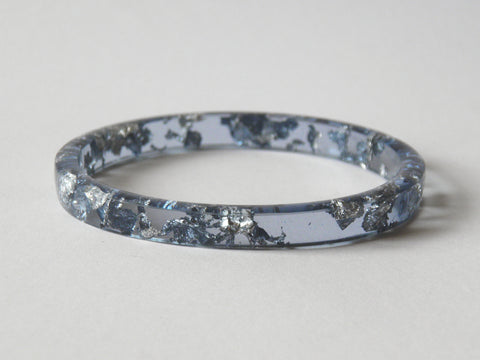 Discontinued Sale: Pale Blue & Silver Stacker Bangle / REGULAR SIZE