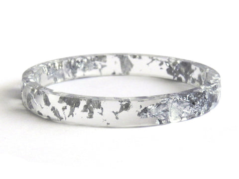 Silver Stacker Bangle / REGULAR SIZE