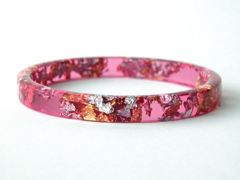 Superfancy Pink Stacker Bangle / REGULAR SIZE