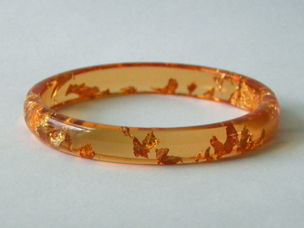 SAMPLE SALE: Bright Orange Stacker Bangle / LARGE SIZE