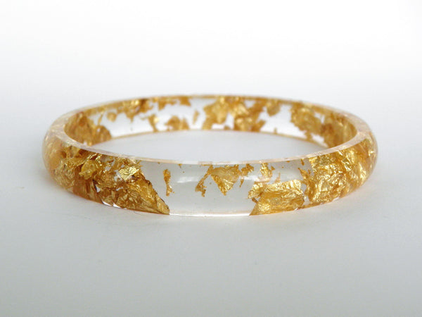 Gold Stacker Bangle / LARGE SIZE