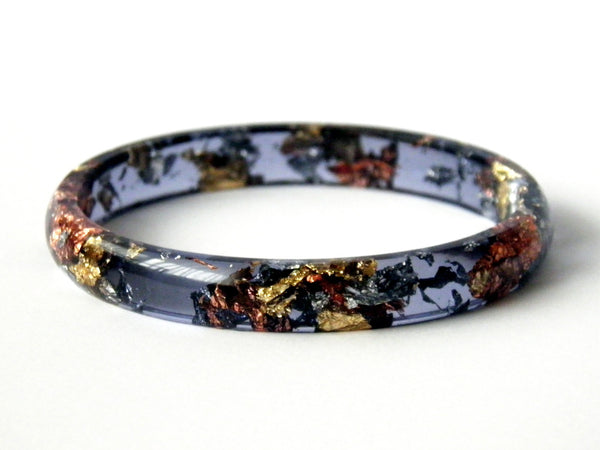SuperFancy Black Stacker Bangle / LARGE SIZE