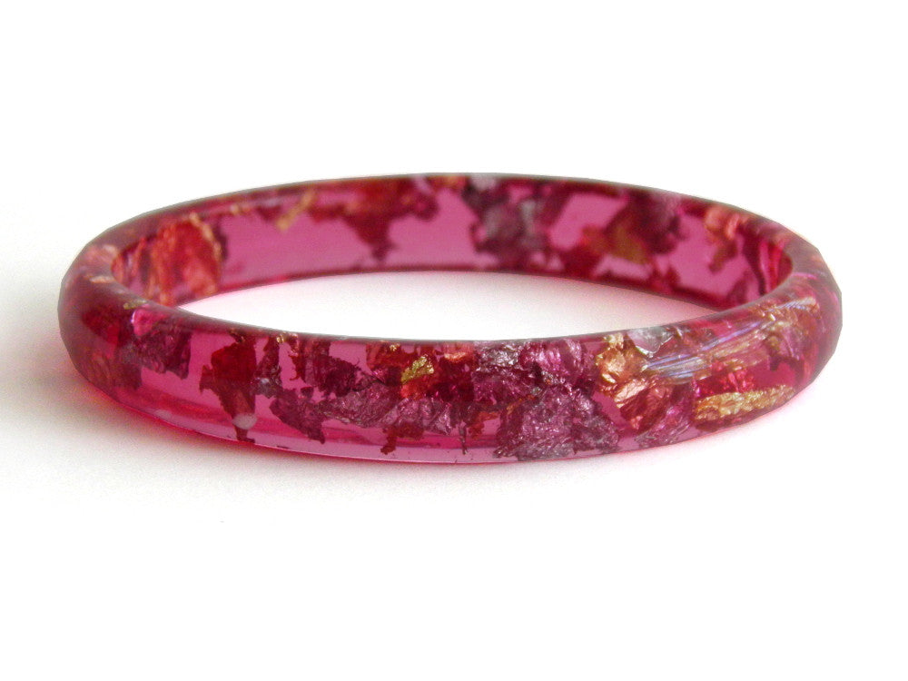 SuperFancy Pink Stacker Bangle / LARGE SIZE