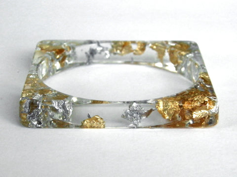 Fancy Clear Square Bangle
