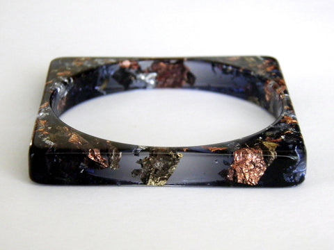 SuperFancy Black Square Bangle
