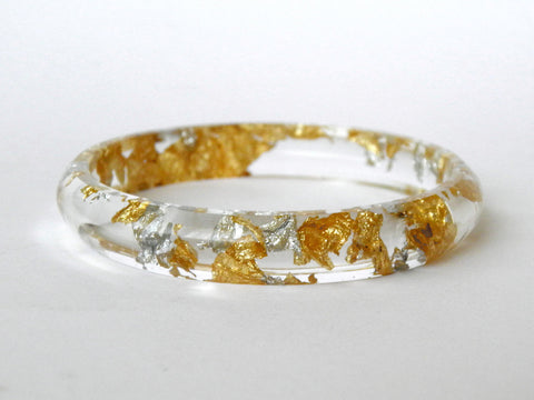 SALE Fancy Clear Stacker Bangle / SMALL SIZE