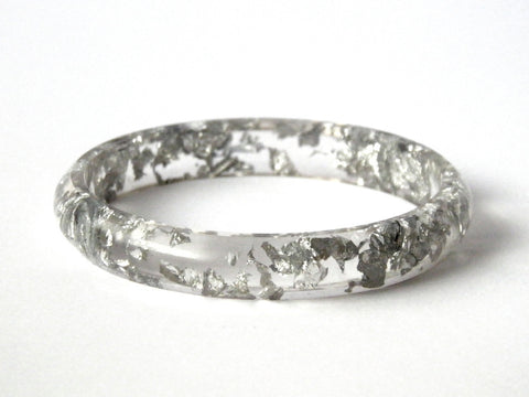 Silver Stacker Bangle / SMALL SIZE