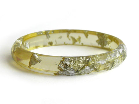 Chartreuse Stacker Bangle / SMALL SIZE