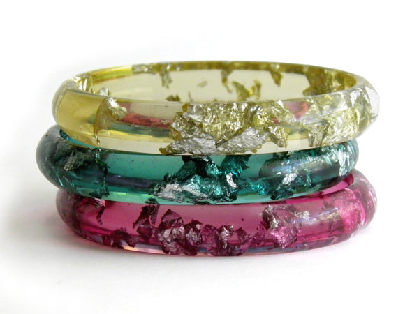 SALE Plum Stacker Bangle / SMALL SIZE
