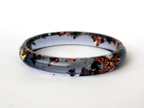 SuperFancy Black Stacker Bangle / SMALL SIZE