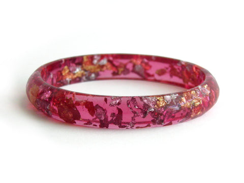 Superfancy Pink Stacker Bangle / SMALL SIZE