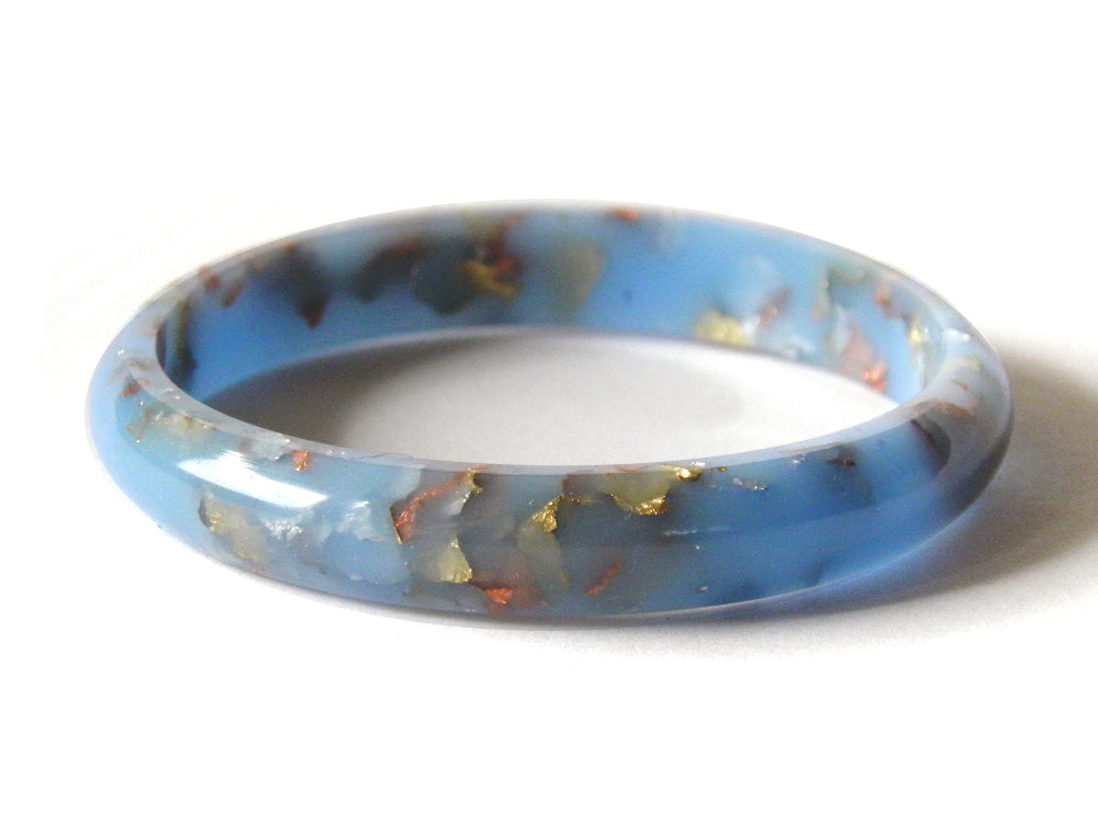 SALE SuperFancy Pastel Blue Stacker Bangle / SMALL SIZE