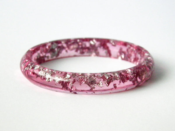 Discontinued Sale: Pink + Silver Stacker Bangle / SMALL SIZE