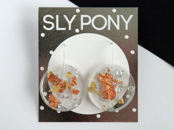 SuperFancy Clear Circle Earrings / Large