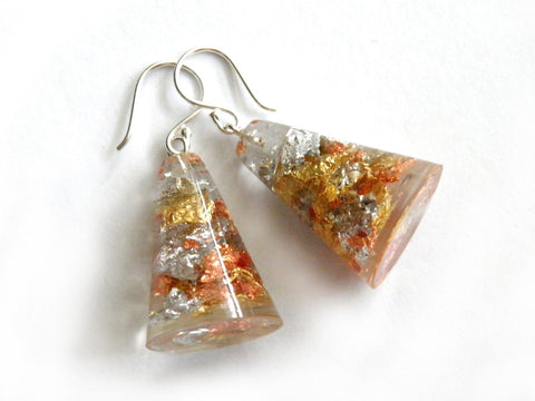 SALE SuperFancy Clear Resin Cone Earrings