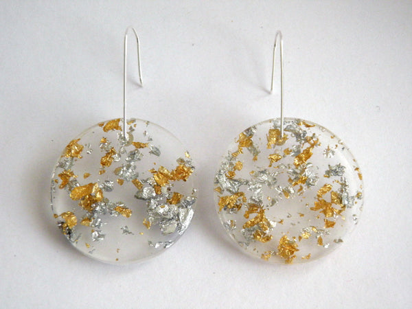 Fancy Clear Circle Earrings / Large